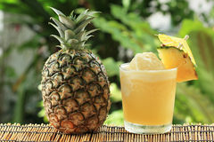 Pineapple Smoothie. Fresh Pineapple Smoothie with slice of Pineapple Stock Image