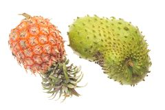 Pineapple And Soursop Royalty Free Stock Photos