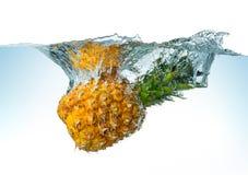 Free Pineapple Spash Royalty Free Stock Photo - 49831725