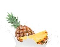 Pineapple splash Stock Photos