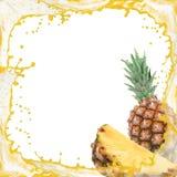 Pineapple splash Stock Photo