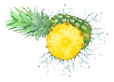 Pineapple splash Royalty Free Stock Photo