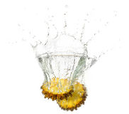 Pineapple splashes Royalty Free Stock Photo