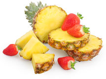 Pineapple and strawberries Royalty Free Stock Photography