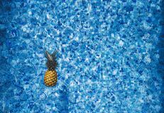 Pineapple in swimming pool Royalty Free Stock Image