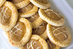Pineapple Tart in Container Closeup Royalty Free Stock Photos