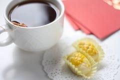 Pineapple tart symbol of prosperity Stock Images