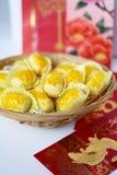 Pineapple tart symbol of prosperity Stock Photo
