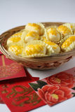 Pineapple tart symbol of prosperity. During Chinese New Year stock images