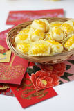 Pineapple tart symbol of prosperity. During Chinese New Year royalty free stock image