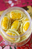 Pineapple tart symbol of prosperity. During Chinese New Year royalty free stock photography