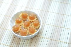 Pineapple Tarts. Sweet Pineapple tarts served in a bowl Stock Photos