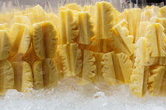 Pineapple. Tropical fruit or ananas in the market Royalty Free Stock Image