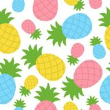 Pineapple tropical vector seamless pattern vector illustration