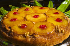 Pineapple upside down cake Stock Photos