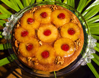 Pineapple upside down cake Royalty Free Stock Photos
