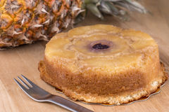 Pineapple upside down cake Royalty Free Stock Photography