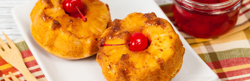 Pineapple Upside Down Muffins Royalty Free Stock Photos