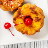 Pineapple Upside Down Muffins Royalty Free Stock Photo