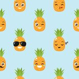 Pineapple vector background Royalty Free Stock Image