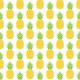 Pineapple vector background. Vector seamless background with pineapples vector illustration