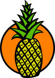 Pineapple vector illustration Stock Photos