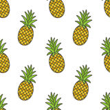 Pineapple.Vector seamless pattern Royalty Free Stock Image