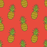 Pineapple.Vector seamless pattern Royalty Free Stock Images