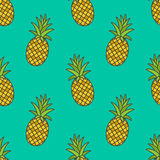 Pineapple.Vector seamless pattern Stock Image
