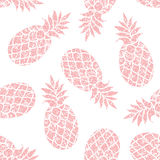 Pineapple vector seamless pattern for textile, scrapbooking or w Stock Photos
