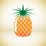 Pineapple vector symbol. Simple Pineapple vector symbol icon useful for logo royalty free illustration