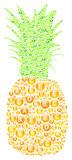 Pineapple Vitamins Concept Royalty Free Stock Photo