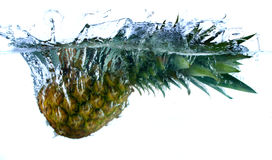 Pineapple in water royalty free stock photography