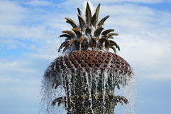 Pineapple Water Fountain in Charleston, SC. Beautiful Pineapple Fountain in Charleston South Carolina Waterfront Park Stock Photo