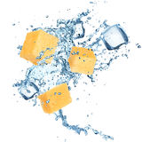 Pineapple with water splash Stock Photos