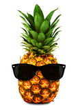 Pineapple Wearing Shades Royalty Free Stock Images