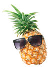 Pineapple wearing sunglasses - Summertime vacation holiday eatin Royalty Free Stock Photos