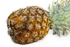 Pineapple on a white background. Pineapple close-up on a white background Stock Photo