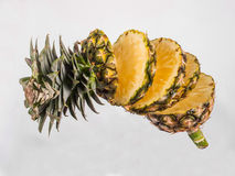 Pineapple  on  white. Pineapple  on a white background Royalty Free Stock Image