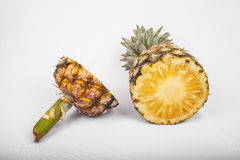 Pineapple  on  white. Pineapple  on a white background Royalty Free Stock Photography