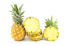 Pineapple. On the white background Stock Photography