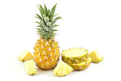 Pineapple. On the white background Royalty Free Stock Images