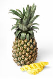 Pineapple on a white background (cut) Royalty Free Stock Image