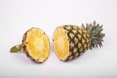 Pineapple  on  white. Pineapple isolated on a white background Royalty Free Stock Image