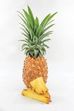 Pineapple. Yellow resting on a white background Royalty Free Stock Photos