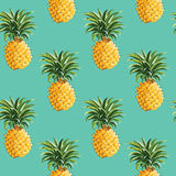 Pineapples background Royalty Free Stock Photo