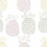 Pineapples. Hand drawing. Vector seamless pattern for design Royalty Free Stock Image