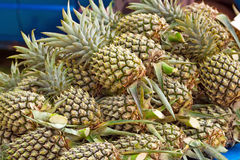 Pineapples on the local market Stock Photos