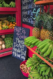 Pineapples and other fruits for sale at a roadside stand on Maui Royalty Free Stock Photo