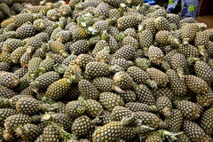 Pineapples at Outdoor Market in Ghana Stock Photography